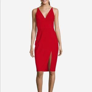 NWT Betsy & Adam Women's Slit Sheath Dress BA908